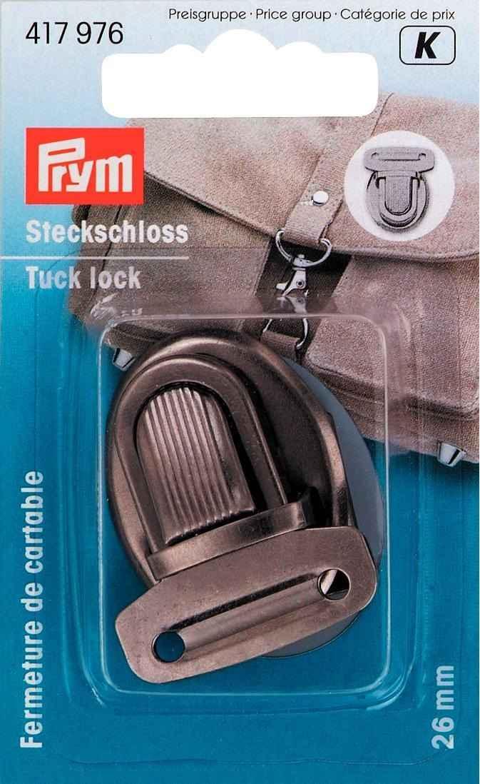 Taschenverschluss altsilber PRYM Steckschloss