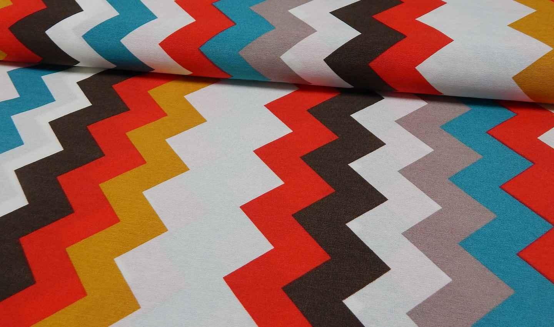bedruckter baumwoll canvas meterware stoff zickzack online. Black Bedroom Furniture Sets. Home Design Ideas