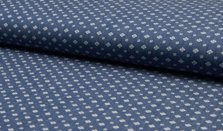 leichter bedruckter hemden jeans stoff hellblau online. Black Bedroom Furniture Sets. Home Design Ideas