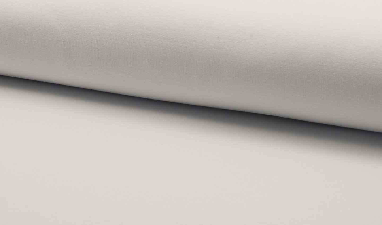 eur meter leichter baumwoll sommer sweatshirt stoff weiss ebay. Black Bedroom Furniture Sets. Home Design Ideas