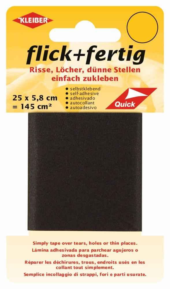 schwarz Kleiber Nappaleder Flicken 2St