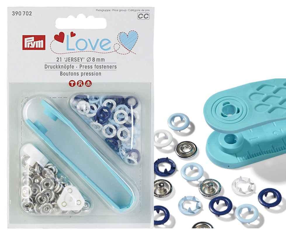 prym jersey druckkn pfe zackenring 8mm hellblau blau wei online kaufen. Black Bedroom Furniture Sets. Home Design Ideas
