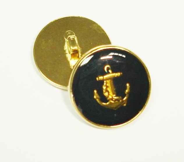 2.30 EUR//pièce métal marine bouton avec Ancre Or 14mm
