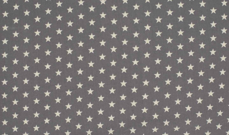 14-85-EUR-Meter-Baumwoll-Jersey-Stoff-Sterne-grau-weiss