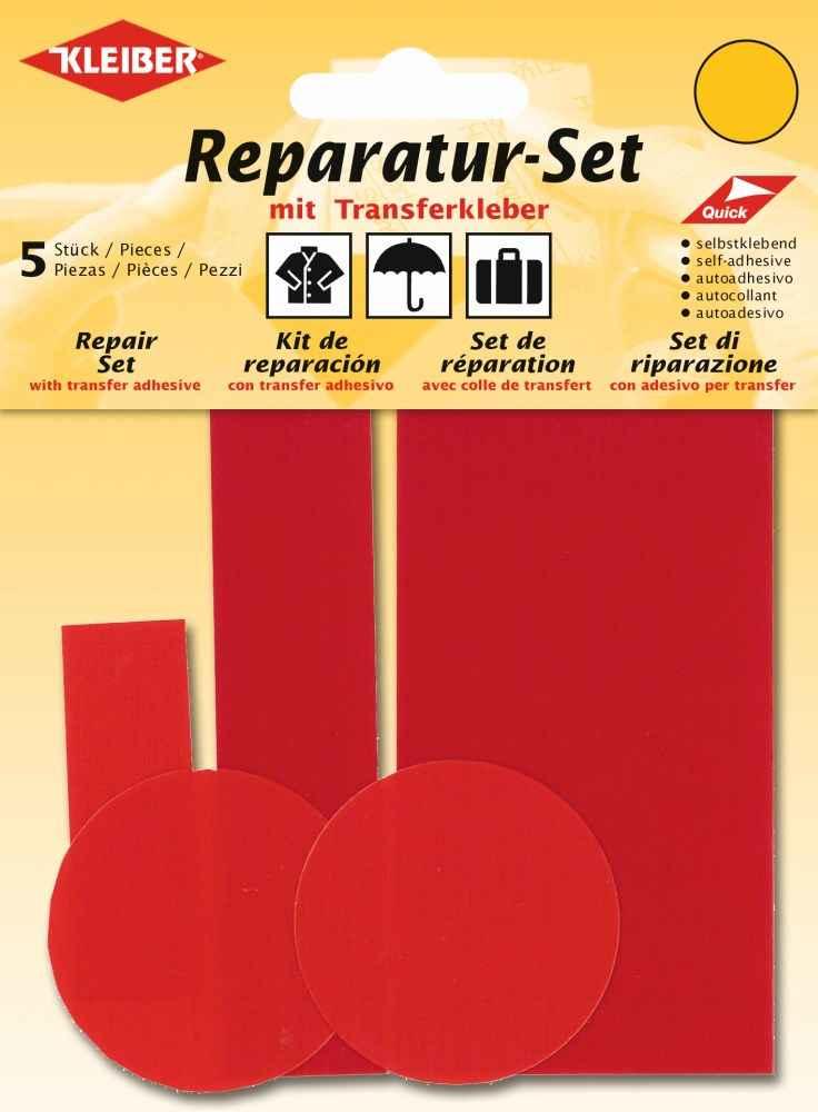 Kleiber Reparatur Set Nylon Flicken rot