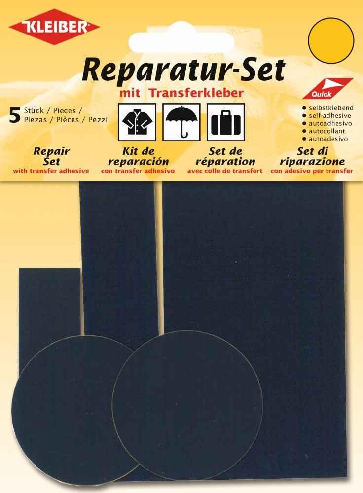 Kleiber Reparatur Set Nylon Flicken kornblau