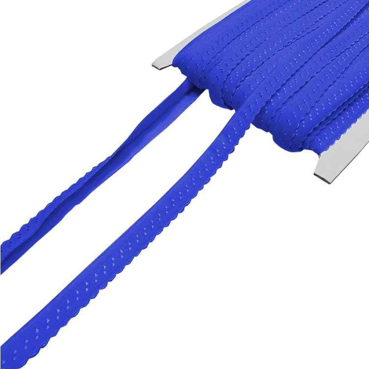 royalblau Elastisches Einfassband mit Bogenkante 2.80 EUR//Meter