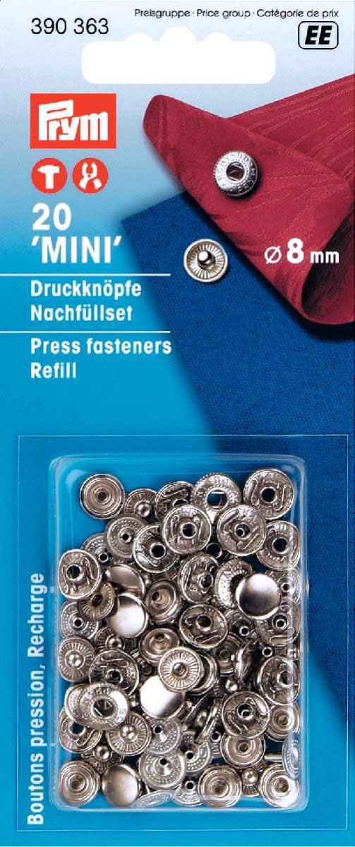 prym nachf llpackung 8mm mini druckkn pfe online kaufen. Black Bedroom Furniture Sets. Home Design Ideas