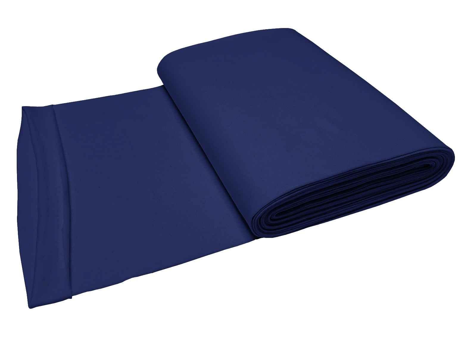 11.00 EUR//mètre revers tissu schlauchware uni bleu foncé
