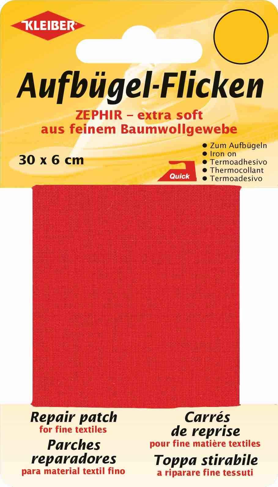 Kleiber Baumwoll Aufbügelflicken rot