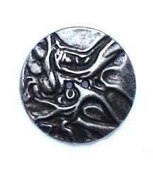 Metall Knopf *Rinde* altsilber 20mm 2.55 EUR//Stück