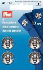 Prym metal pulsadores para suturar 17mm plata