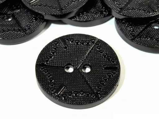 3.20 EUR//Stück großer fashion Knopf star 38mm schwarz