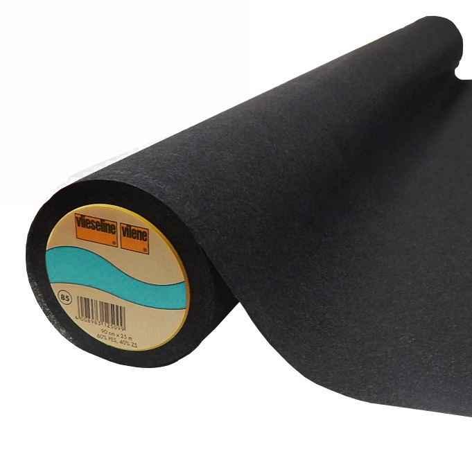 8.20 EUR//Meter Bügelbare Gewebeeinlage elastisch Vlieseline G785 schwarz
