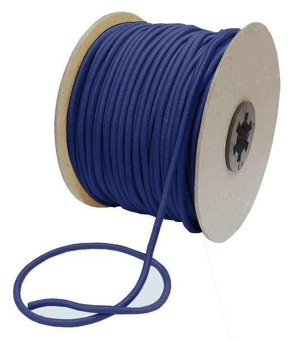 1.00 EUR//Meter Gummiband Elastische Kordel 3mm dunkelblau